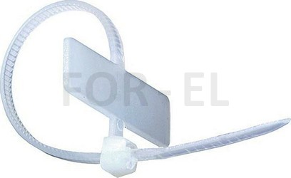 kabelbinder mit beschriftungsfeld von eur packung for el. Black Bedroom Furniture Sets. Home Design Ideas